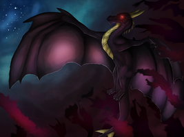 Shadowright, the dark overlord dragon by Randern
