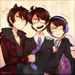 glasses / necktie day 2015 by Rylitah