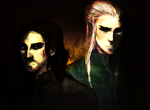 Mormegil and Cuthalion by remonpop