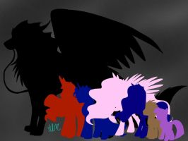 My Little Pony-Shardie Size Comparison -for RPs- by ShardianofWhiteFire