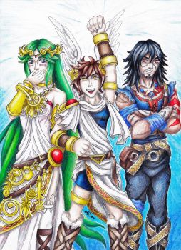 Dissidia Warriors Cosplaying Kid Icarus by LadyJuxtaposition