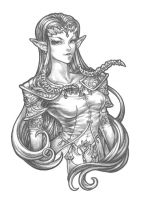 Princess Zelda - Pencil by bluessence