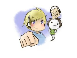 Pewdiepie and Bros by AlbertRemong