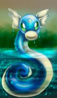 Dratini out of water by PKManthro