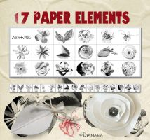 17 Paper Elements by Diamara