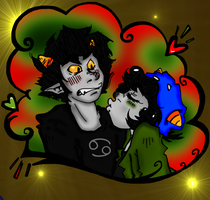 Nepeta: Attempt To Kiss Karkat by Malese2