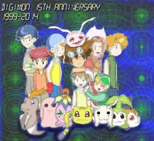The 15th Anniversary of Digimon by keikokurata