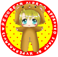 (Hetalia) Pedobear Alfred Approved stamp! by Hyperkaoru13