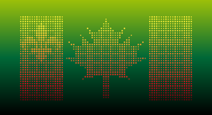 Canada symbol in dots by Sv7Sa4