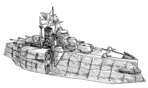 Imperial warship by SkyShipColonel