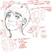 SHADY SQUIGGLES~SHADE TRIES DRAWING JACK FROST by LittleMissSquiggles