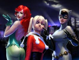 Holy Sirens Batman!! by phoenixnightmare