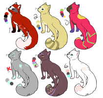 Pretty Kitty Adoptables (Open) by Yumao-Adopts