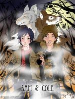 Sam and Cole by akio--sama