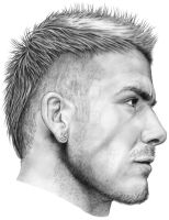 David Beckham pencil portrait by whu-wei