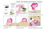 HOW TO MAKE DAFFODIL SUSHI by Wookylee