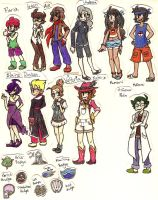 Professor, Trainers, Gym Leaders... oh my! by StarryMidnightSky