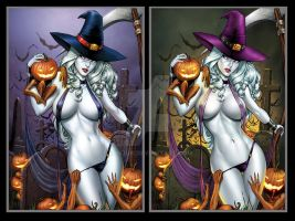Lady Death Halloween 2013 nice n Naughty by sanjun