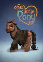 Omar Little Pony by ChateNoire