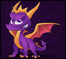 Spyro by Supercurlyninja