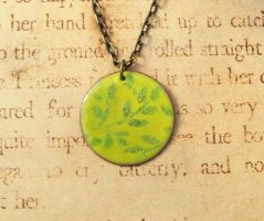 Climbing Ivy Hand Torched Enamel Necklace by FusedElegance