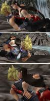 Cloud and Tifa VS Daleks 2-4 by Dark6Nika