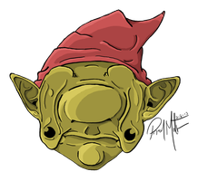 Droopy Eyed Gnome by 1roquois