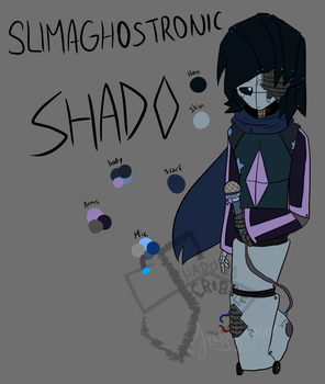 OCs - Slimaghostronic Shado ref by Scribbleshadows