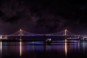 Thuan Phuoc bridge at night by garki