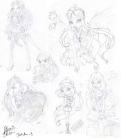 Sketches set 02 by florainbloom