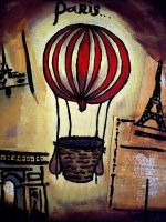 Paris Hot Air Balloon by Foxhawk95