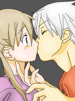 Soul x Maka coloured by SaintJoan25