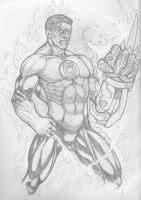 green lanter Hal Jordan by SergioGM