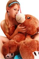 Hayley and Mr.Bear I by RavenMacabre