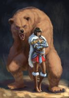 Bear warrior by Zamberz