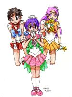 The Flower Senshi by Leaf-nin