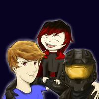Rooster Teeth Fan Art w/ Ruby and Tex [requested] by AJaxx15