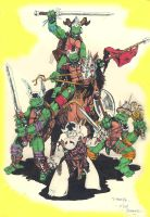 The Turtles and Cerebus by dragonhuntr