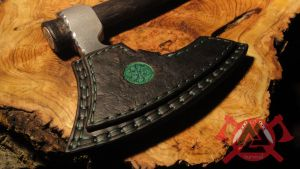 G3survival Viking Bearded hand axe in green thread by G3survival