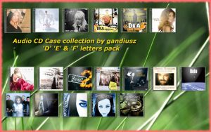 CD Case Collection 'D'E'F' by gandiusz