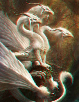Alabaster Plumed Dragon - 3D by Liloo86