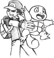 Pokemon Trainer with Squirtle by pluckylump