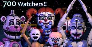 Thanks for 700 Watchers!!!! by GamesProduction