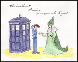 The Doctor in Hogwarts by laureta1387