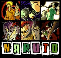 Naruto 6 in 1 XD by andy5281