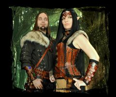 leather armor elf steampunk by Lagueuse