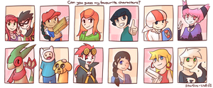 Can you Guess my Favourite Characters? by starfire-wolf