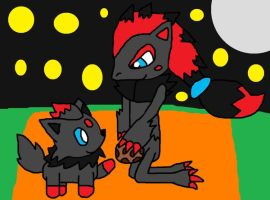 Zorua And Daddy Zoraork by pokemonlpsfan