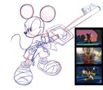 King Mickey Sketch by rongs1234