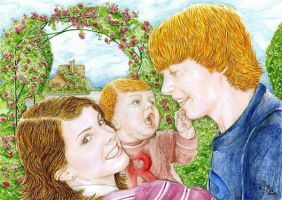 Ron,Hermione and Rose My Girls by harrypotterfans